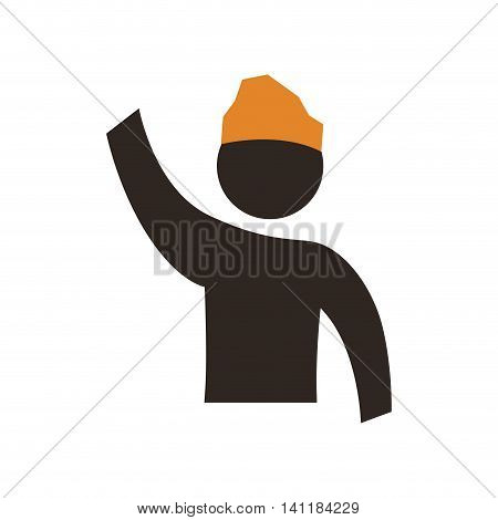 Baker hat pictogram silhouette icon. Isolated and flat illustration. Vector graphic