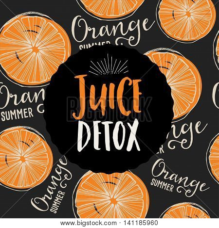 Juice poster for restaurant brochure organic beverage template design. Vintage creative banner with hand-drawn graphic.