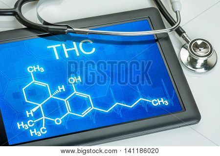 Tablet With The Chemical Formula Of Thc