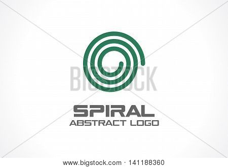 Abstract business company logo. Corporate identity design element. Spiral, Nature, mix, ecology logotype idea. Swirl, whirlpool, rotation and twist concept. Vector icon