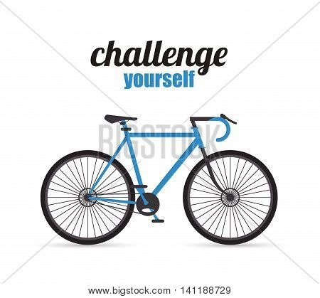 bike cycle bicycle racing challenge yourself icon. Flat and Colorfull illustration. Vector graphic