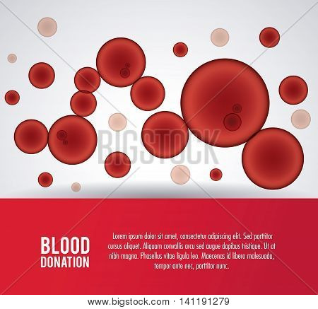 globules blood donation icon. Colorfull and flat illustration. Vector graphic
