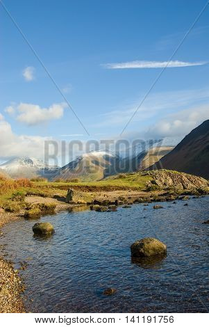 Great Gable Lingmell Scafell and Illgill Head Wastwater Wasdale Cumbria