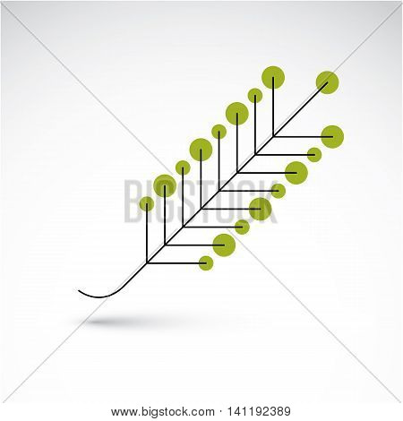 Spring Ash Leaf, Botany And Eco Flat Image. Vector Illustration Of Herb, Natural And Ecology Element