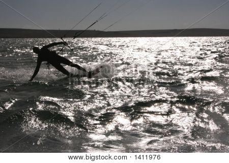 Kite Surfer Sun Reflection