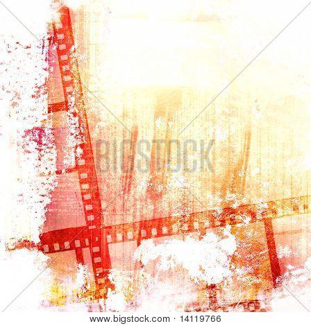 Quadro de filme grande para texturas e fundos com espaço para seu texto e imagem