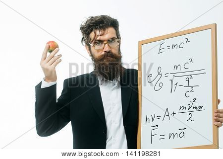 Bearded Man With Einstein Formula