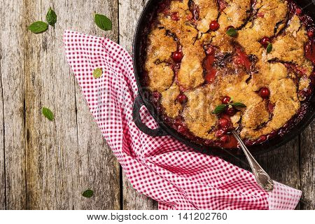 Cherry Cobbler With Chocolate