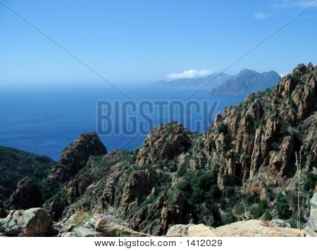 Corsica, View From The Mountains