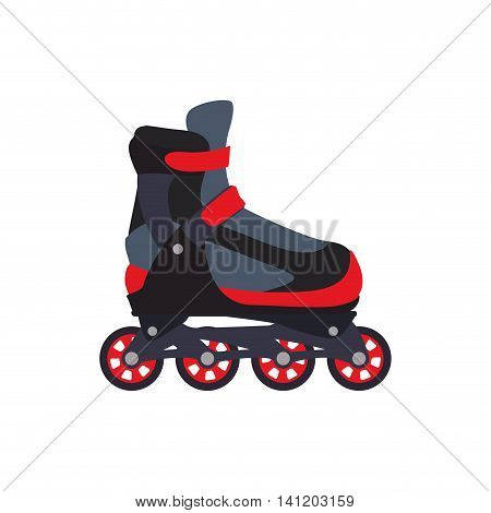 roller skate shoe sport hobby icon. Isolated and flat illustration. Vector graphic