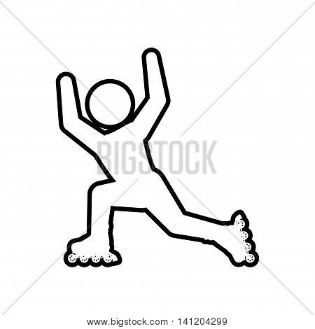 roller skate silhouette pictogram shoe hobby icon. Isolated and flat illustration. Vector graphic