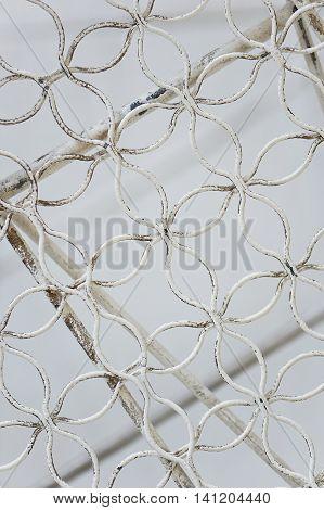 Metallic light white fishnet mesh wire. Texture