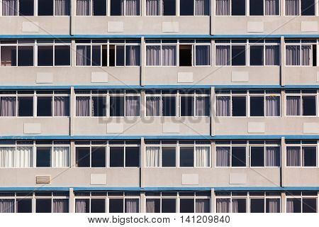 Building apartments duplicates glass windows alloy frames.