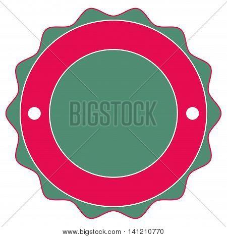 flat design round badge icon vector illustration