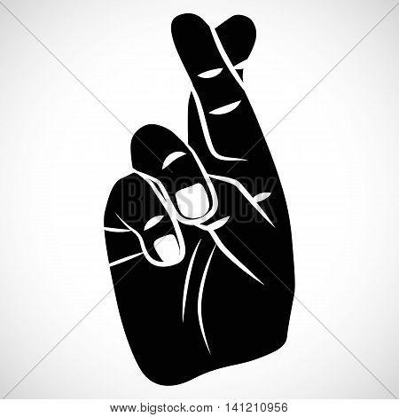 Icon Crossed Fingers