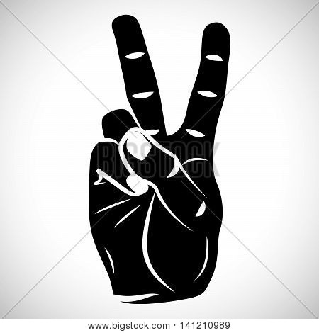 Icon Hand Peace Sign