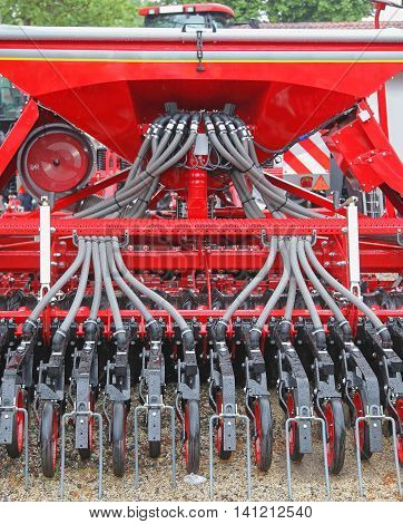 Red Planter Seeder Row Machine for Agriculture