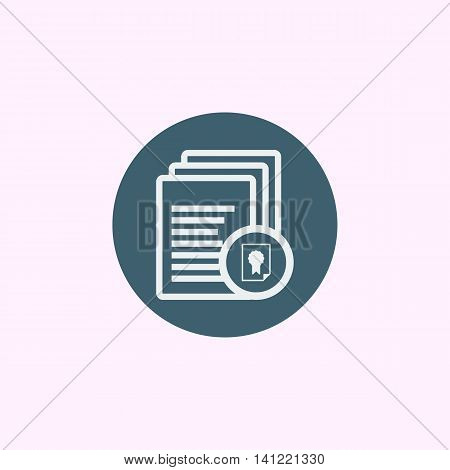Files Certificate Icon In Vector Format. Premium Quality Files Certificate Symbol. Web Graphic Files