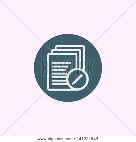 Files Edit Icon In Vector Format. Premium Quality Files Edit Symbol. Web Graphic Files Edit Sign On
