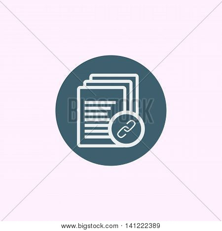 Files Link Icon In Vector Format. Premium Quality Files Link Symbol. Web Graphic Files Link Sign On