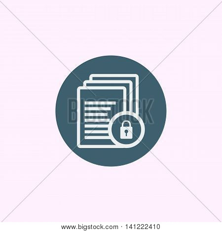 Files Lock Icon In Vector Format. Premium Quality Files Lock Symbol. Web Graphic Files Lock Sign On