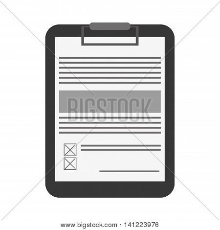 flat design clipboard with document icon vector illustration