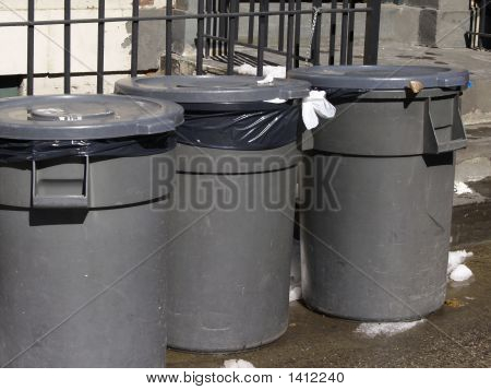 Trash Can Trio