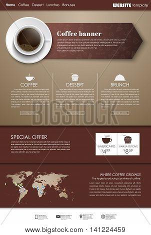 Template Coffee Web Site