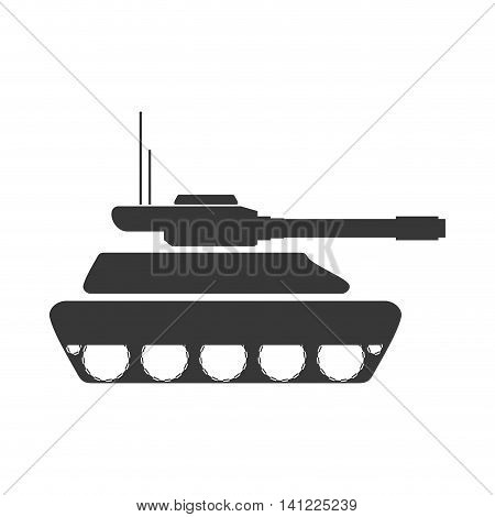 tank armed forces military icon. Isolated and flat illustration. Vector graphic