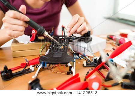 Welding drone at home