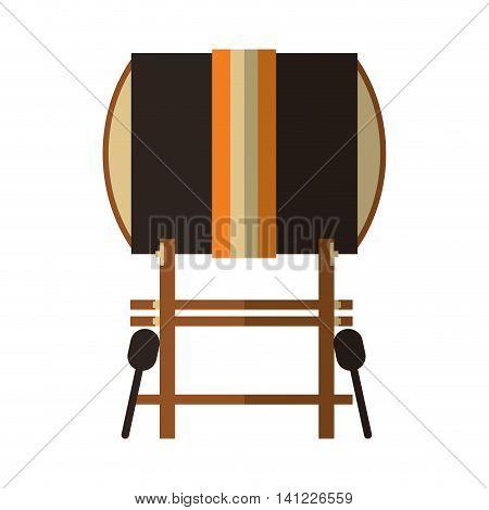 flat design single gong icon vector illustration