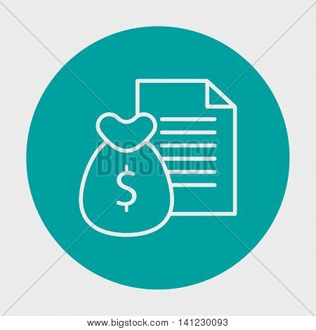 Project Management Icons On Money, Revenue And Reports. Simple Isolated Thin Line Web Icon. Can Be U