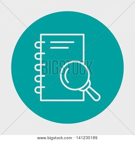 Project Management Icons On Research, Note, Magnifying And Plan. Simple Isolated Thin Line Web Icon.