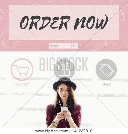 Order Now Buy Online Internet Shopping Store Concept