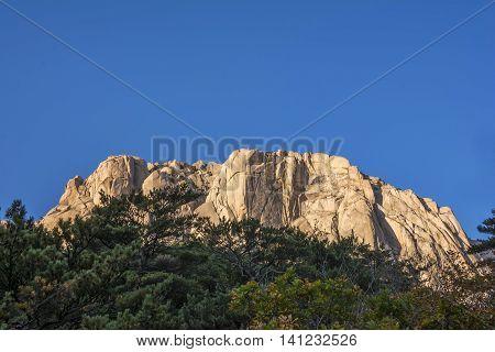 Famous Mout Soraksan National Park in Korea.