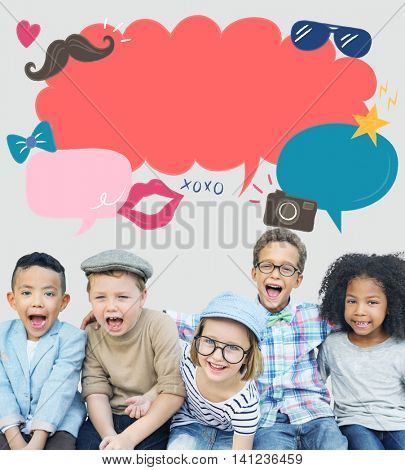 Kids Casual Joyful Independent Graphic Concept