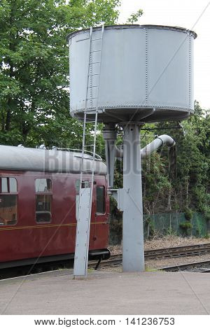 A Vintage Water Tank for Filling Railway Steam Trains.