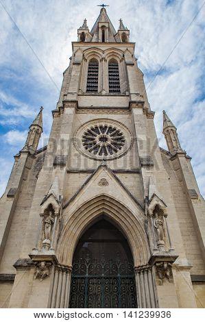 View at Sainte Anne Church in Montpellier France