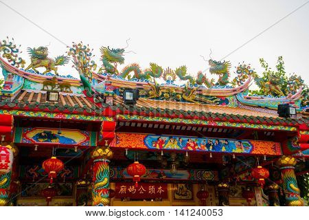 Chinese Temple. Udon Thani, Thailand