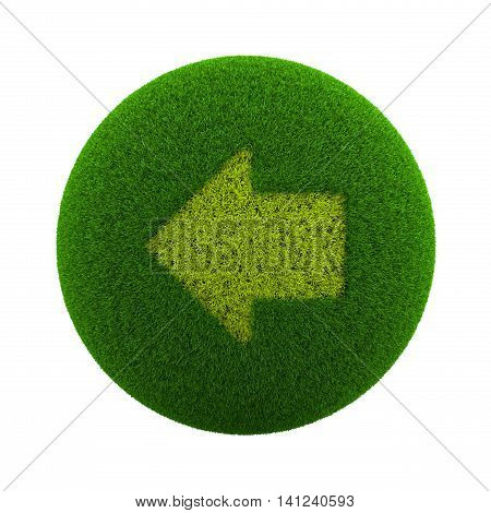 Grass Sphere Left Arrow Icon