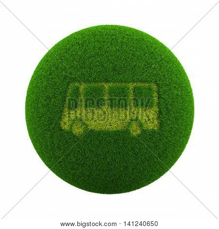 Grass Sphere Bus Icon