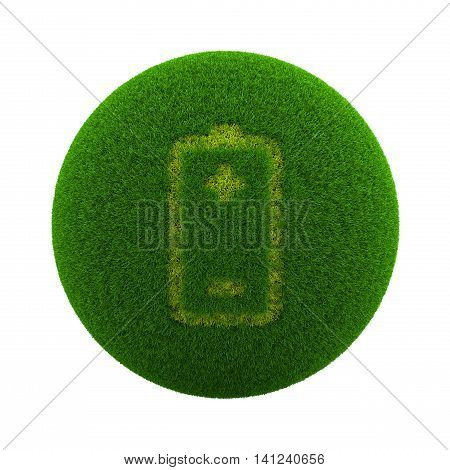 Grass Sphere Battery Icon