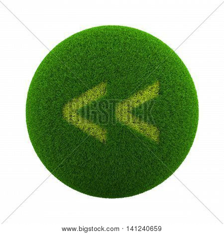 Grass Sphere Backward Icon