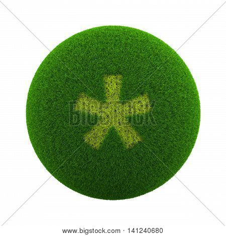 Grass Sphere Asterisk Icon