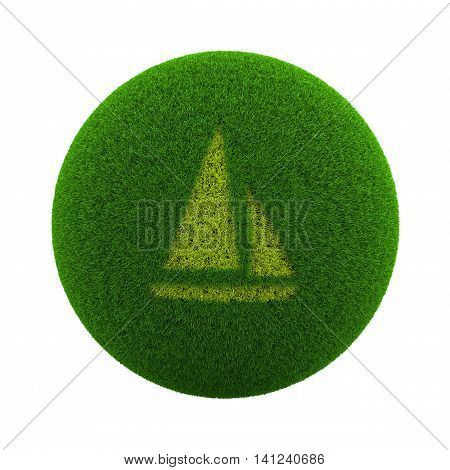 Grass Sphere Boat Icon