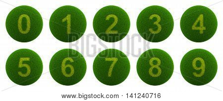 Grass Sphere Number Series Icon