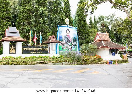 Phuping Palace Is The Royal Winter Residence Of The Thai Royal Family On Augus 3 , 2016 In Chiang Ma