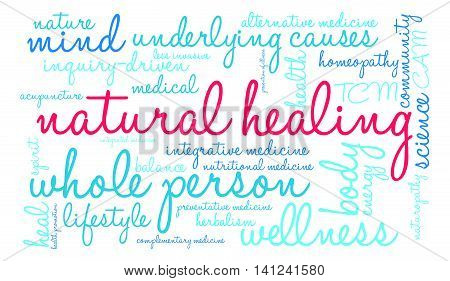 Natural Healing Word Cloud
