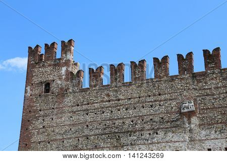 Ancient Castle In The Northen Italy
