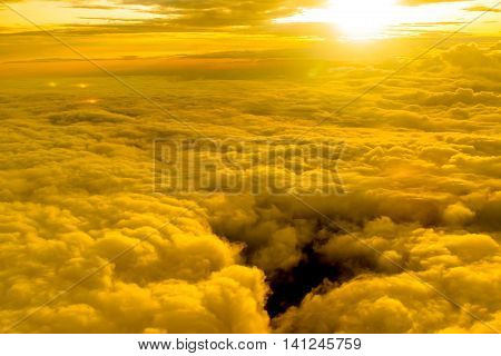 cloud scape with the sun light effect